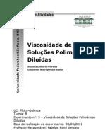 Viscosidade de Soluções Poliméricas Diluidas