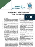 Stock Card Drug Management