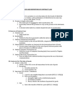 1. Sources and Definitions of Contract Law