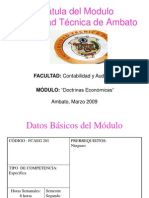 Modulo formativo doctrinas económicas