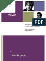 John Mayer Presentation