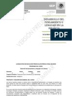 Desarrollo Del to y Lenguaje en La LePrescIB