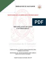 Recopilacion de Leyes Universitaria Completa