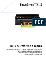 Manual Epson Stylus Tx120
