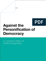Against the Personification of Democracy a Lacanian Critique of Political Subjectivity