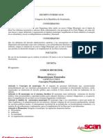Código Municipal Dto. 58-88 Guatemala