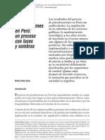 Ruiz 2007 Las Privatizaciones en Peru, Un Proceso Con Luces y Sombras