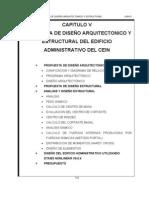 propuesta de diseño arq. y estr. del edificio adm.