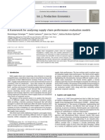 A Framework for Analysing Supply Chain Performance Evaluation Models