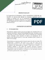 Proyecto de Ley Julia Valenzuela Cuellar
