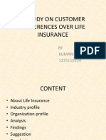 A Study on Customer Preferences Over Life Insurance