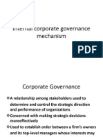 Internal Corporate Governance Mechanism