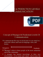 Stranger & Prediction Levels of Communication