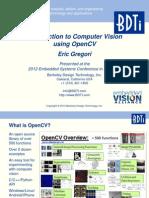 BDTI ESCSV 2012 Intro Computer Vision