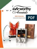 2009 Noteworthy Awards Catalog