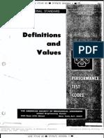 PTC 2 Definitions & Values