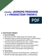 Materi Ekonomi Produksi