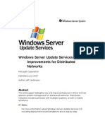 WSUS3 Improvements for Distributed Networks - FINAL