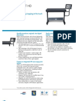 Brochure of HP Designjet HD Scanner