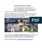 Baseball américain match live streaming
