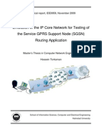 Emulation of the IP Core Network for Testing of the Service GPRS Support Node (SGSN) Routing Application
