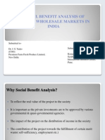Social Benefit Analysis of Modern Wholesale Markets