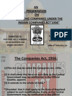 Existing Companies Indian Contract Act