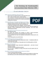 Benz 1999 - Gründung der BRD - Zusammanfassung