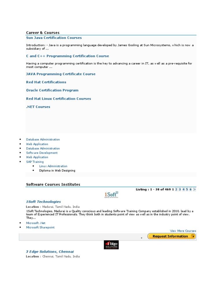 Career Professional Certification Sap Se