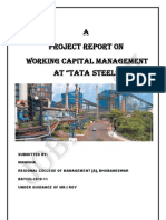 Sip Report on Working Capital