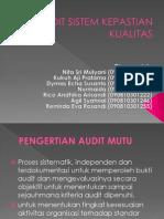 Audit Sistem Kepastian Kualitas