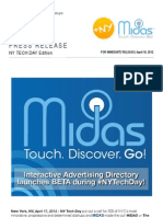 MIDAS Launches BETA @NYTechDay