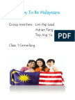 Happy to Be Malaysians