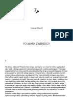 George Orwell - Folwark ZwierzÄ™cy