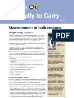 Measurement of Bulk Cargoes - Draught Surveys