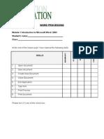 Evaluation Word