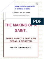Three Aspects That Can Derail a Believer