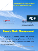 presentation for Study on the Integration of Supply Chain Management in Automobile Business""