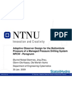 Adaptive Observer Design for the Bottom Hole