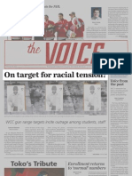 On Target for Racial Tension? The Voice Staff (MCCPA 2nd Place, Division I)