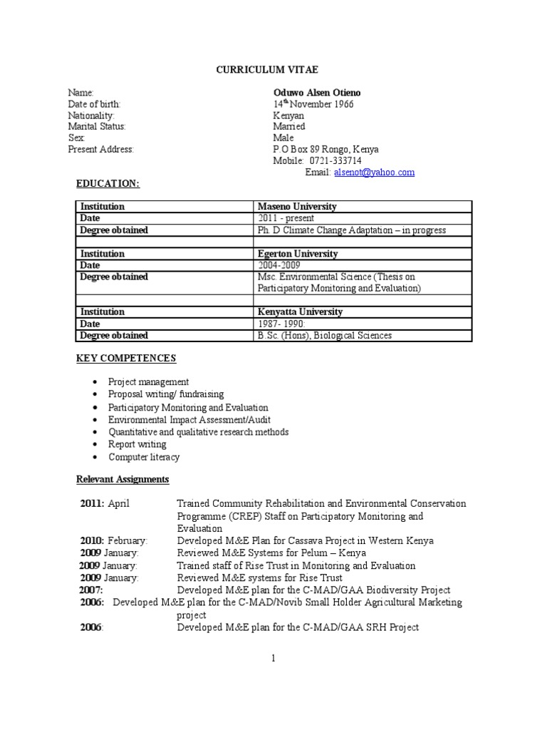 copy of cv alsen kenya evaluation