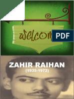 Zahir Raihan by Sazzad (AIUB)