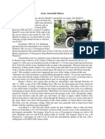 Early Automobile History