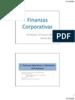FinanzasCorporativas MF2009 1FinOperativas Valoracion