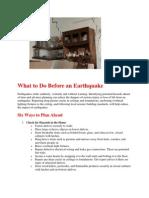 Do's and Dont's during Earthquake - Naresh Kadyan