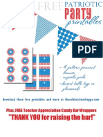 Free Patriotic Party Printables From The Celebration Shoppe.com