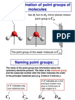Chemistry 445 Lecture 8 the Determination of Point Groups