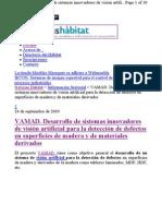 Patente sistema visión artificial