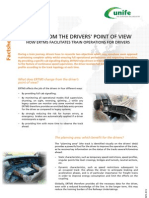 ERTMS Facts Sheet 13 - ERTMS From the Drivers Point of View