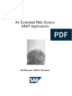 An Extended Web Dynpro for ABAP Application